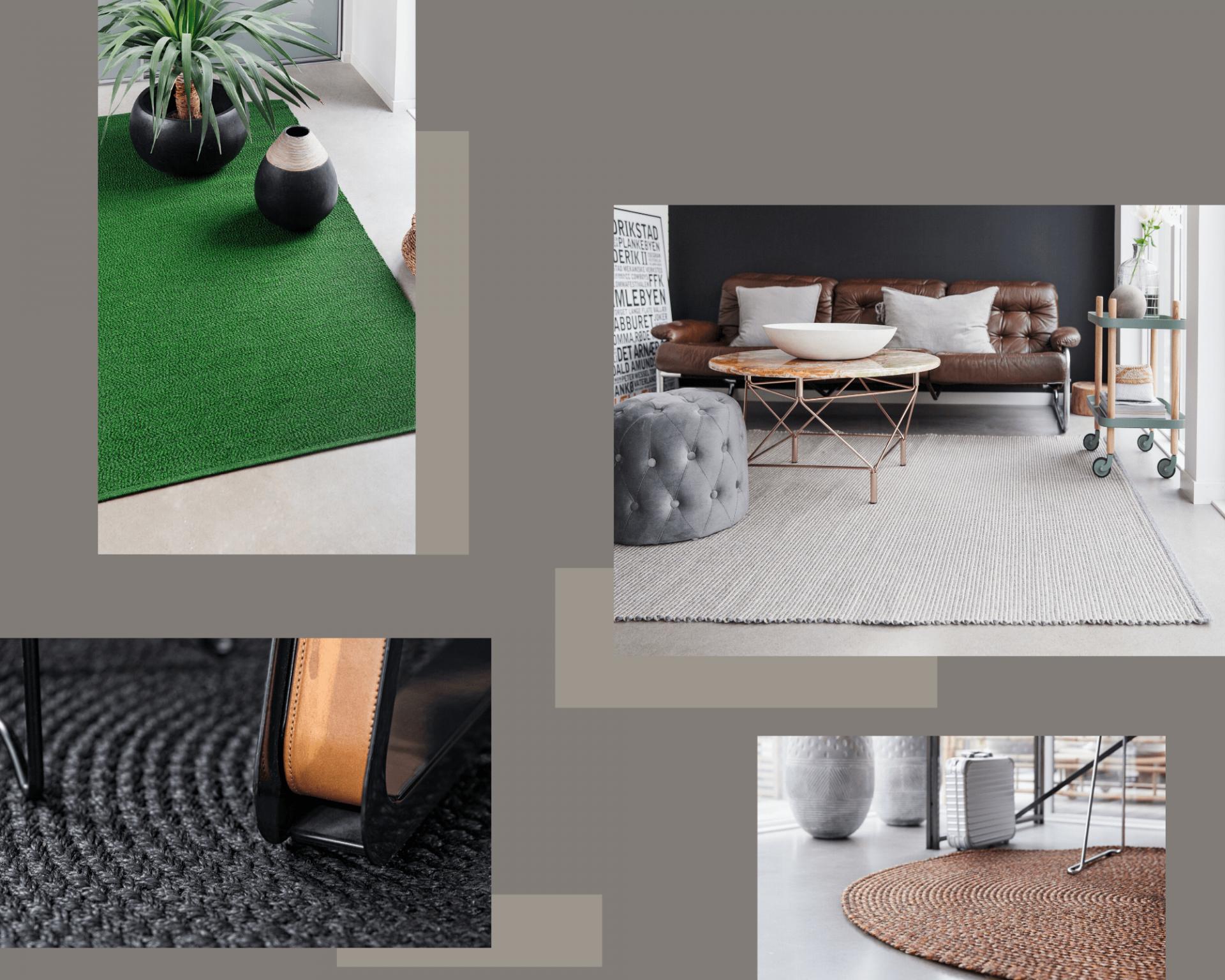 Grey Modern Geometric Dots Interior Design Photo Collage