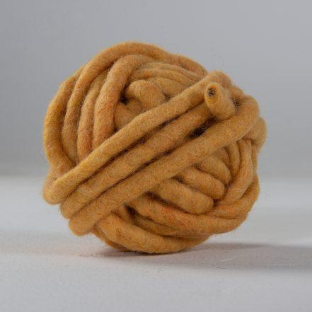 Wollgarn gefilzt, 10 mm ø